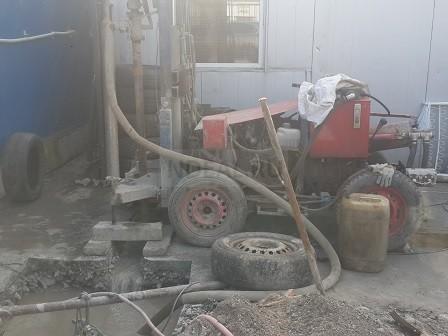 скважина на бетонном заводе