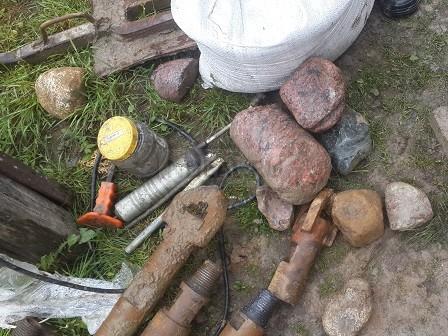 гранитный камни в Выборгском районе