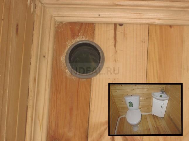 ввод в дом канализационной трубы