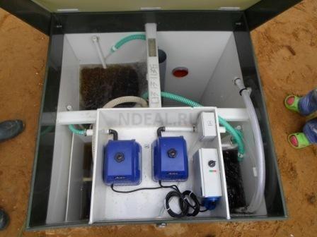 внутри станции биоочистки
