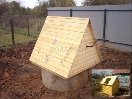 декоративный домик на колодец