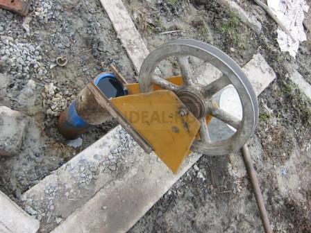 колесо на трубу