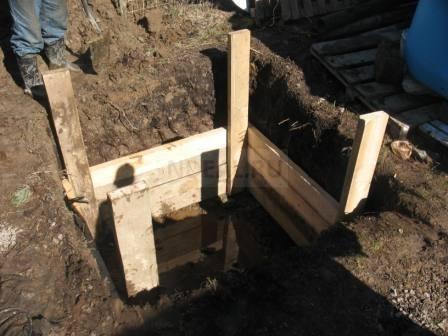 опалубка для канализации при высоком уровне грунтовых вод