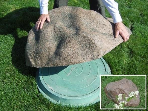 крышка в виде камня