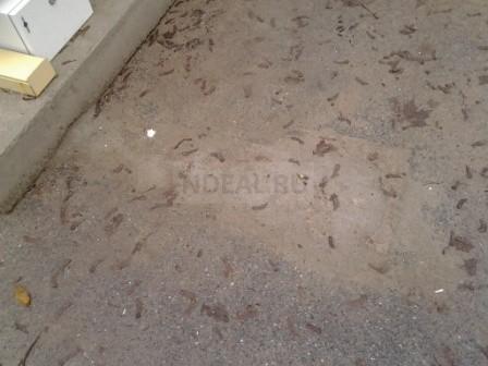 на месте работ осталось ровная площадка залитая цементом