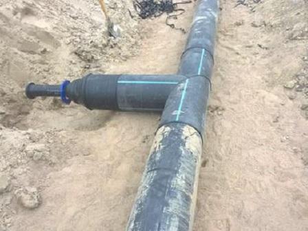 отвод к дому от центрального трубопровода