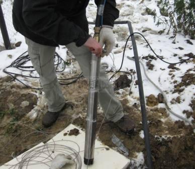 подключение скважинного центробежного насоса
