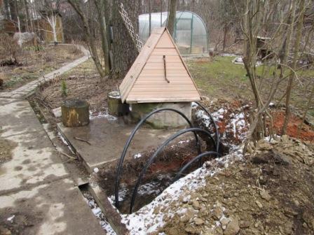 прокладка водопровода из колодца