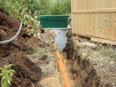 прокладка труб к канализации