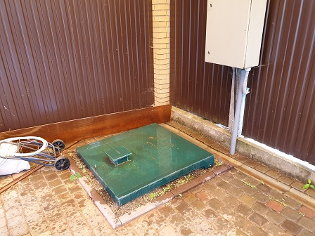 станция био очистки спрятанная в плитку