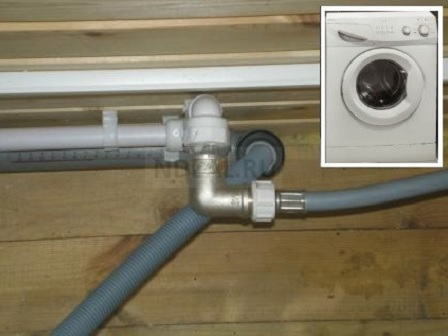 подключение холодной воды и слива к стиральной или посудомоечной машине