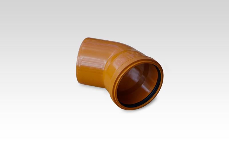 Отвод ПВХ 45° d=110 мм